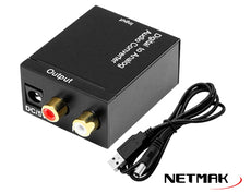 Conversor NETMAK Audio Digital Fibra Optica / Rca NM-RCA