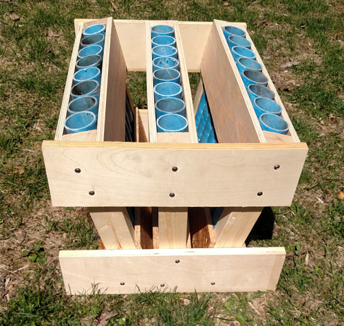 Build a 24 shot fan rack for your fireworks displays