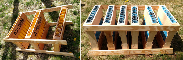 Build this mortar rack for your fireworks displays
