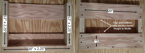 Dimensions for making a 8-Shot Fiberglass Mortar rack