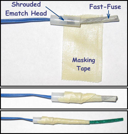Attaching fuses to homemade electric matches