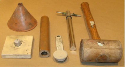Materials and Tools Ready to Ram Clay Plug