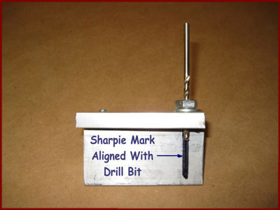 Marking stinger missile drill guide plate