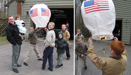 The Next Generation of Gorskis with Paper Hot Air Balloons
