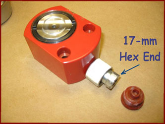 17mm hex fittin on hydraulic ram