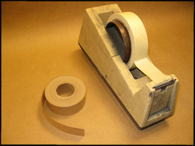 Masking tape dispenser and 1-inch gummed paper tape
