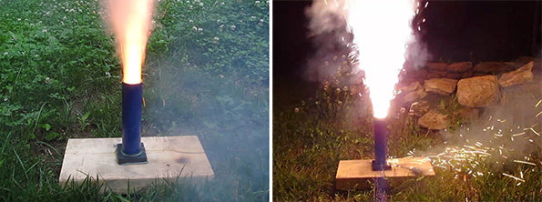 Firing a Homemade Fireworks Shell