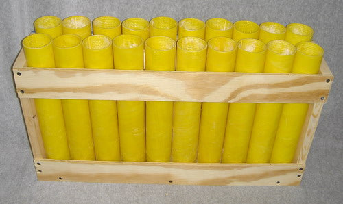 20 shot, festival ball, fiberglass mortar rack