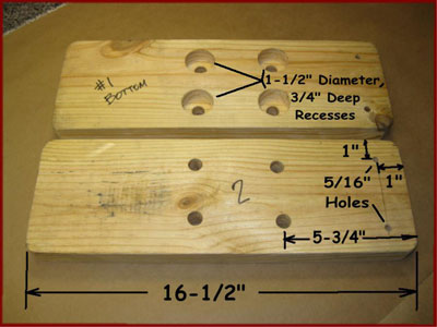 dimensions for arbor press wood base pieces