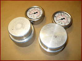 3,000 and 10,000 PSI force gauges