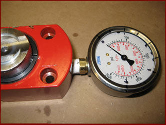Hydraulic Gauge and Ram Body Correctly Oriented
