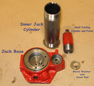 Hydraulic Bottle-Jack, Further Disassembled