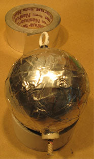 Shell Covered with Aluminum Foil Duct Tape