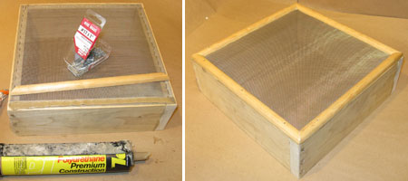 Finishing Up the Screen By Gluing and Nailing On Trim Strips