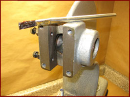 arbor press bearing properly greased with a brush