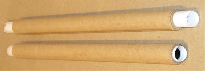 Poly-Kraft Paper Rolled onto Former, Over Parchment Paper