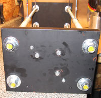 Attachment Holes, Bolts and Nuts in Bottom Steel Plate