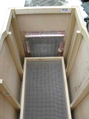 Interior drying chamber grill