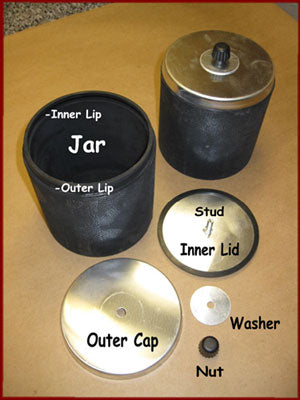 Label ball mill jar parts