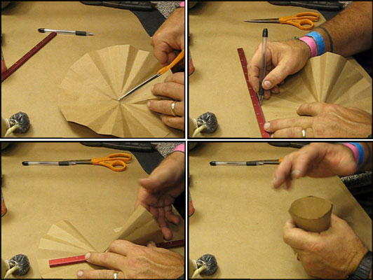 Making a lift cup for a fireworks shell