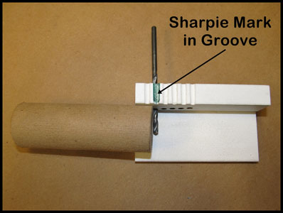 Marking drill guide groove