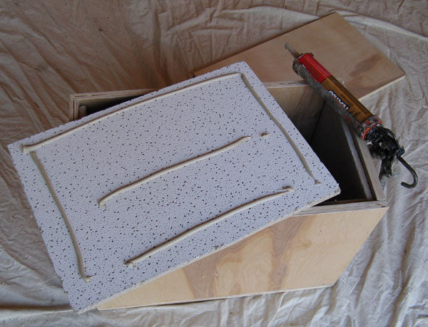 Assembled Ball Mill Box and Glued Tile Insulation
