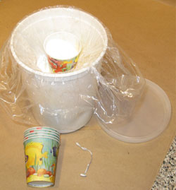 Unsealed Container of Fireworks Chemical, with Dedicated Powder Scoop