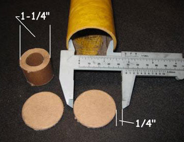 Cardboard Discs and Tubes for Piston Mines