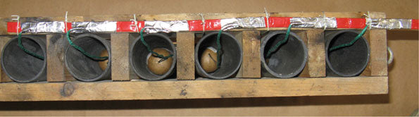 Tie Fuse Chain to Rack at Each Mortar