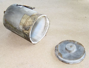 Plastic Shell Parts after Shell Has Been Fired