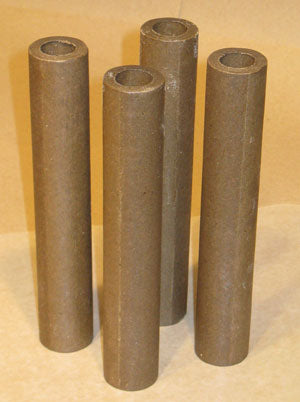 Drying Treated Paper Tubes on Waxed Paper