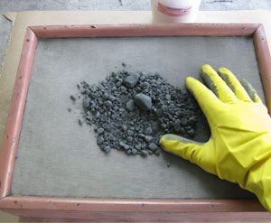 Screening Zinc Clumps