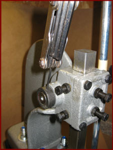 arbor press front cover and shaft locking collar reattached