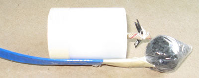 Black Powder Lift in Plastic Baggie, with Quickmatch Leader