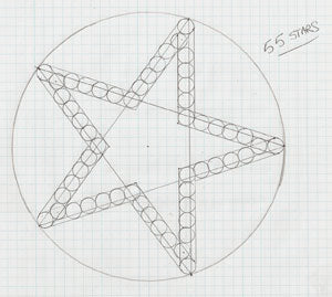 Star Pattern for an 8-Inch Ball Shell