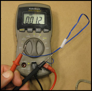 Testing electric match blanks, GN5040