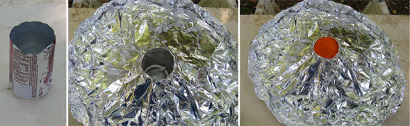 Making an Aluminum Foil/Pop-Can Volcano