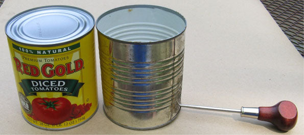 Preparing Empty Can Container for Cremora Fireball Pot