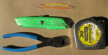 Short Pieces of Two Types of Shooting Wire, and the Tools for Working with It