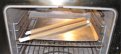 Cooking the Tubes in a 275 Degree Oven for One Hour