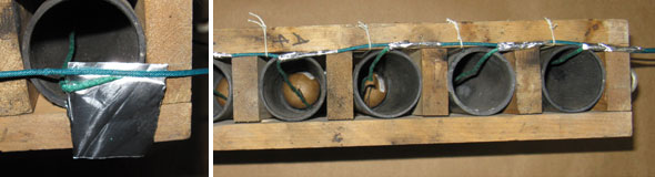 Tape Shell Leaders Side by Side to Visco Fuse Chain