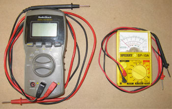 Digital and Analog Multimeters to use on Electric Circuits