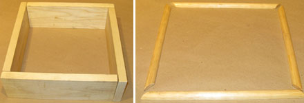 Pieces of Wood Cut for Screen Frame