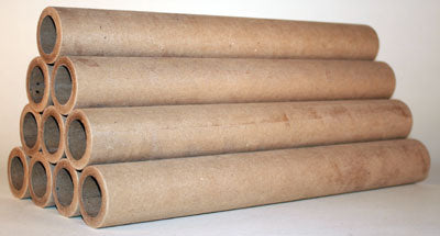 "3 pound (1"" ID) rocket tube, cut (12"" Long) - Pack of 25 ea."