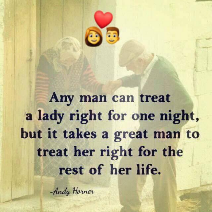 Any man can 💜