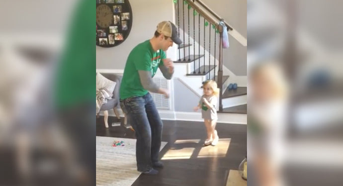 Toddler Teaches Dad How To Do Her Favorite Irish Dance