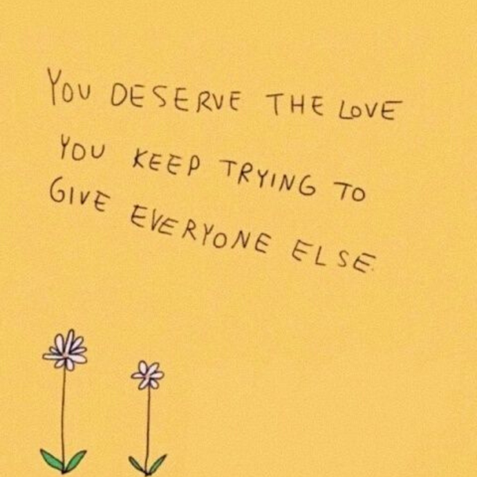 You are deserving 💜