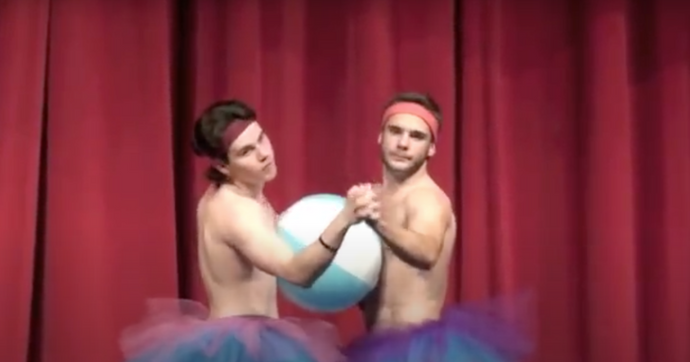 "Teen Boys Perform ""Beach Ball"" Dance – Take Talent Show To Hilarious Level"