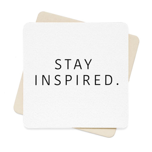 Stay Inspired. Paper Coaster Set - 6pcs 🍸