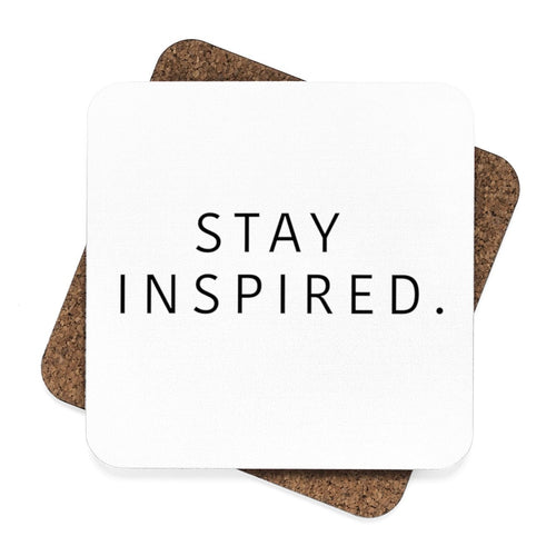 Stay Inspired. Hardboard Coaster Set - 4pcs 🍸